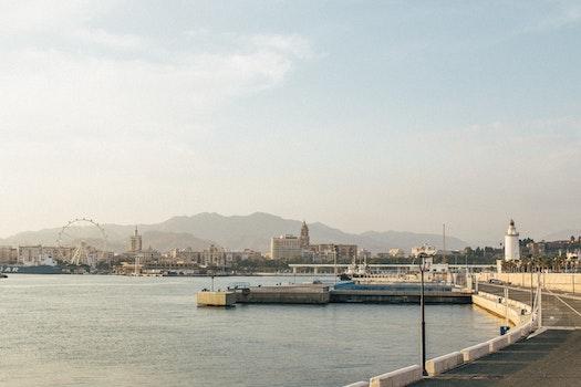 Free stock photo of sea, city, landscape, love
