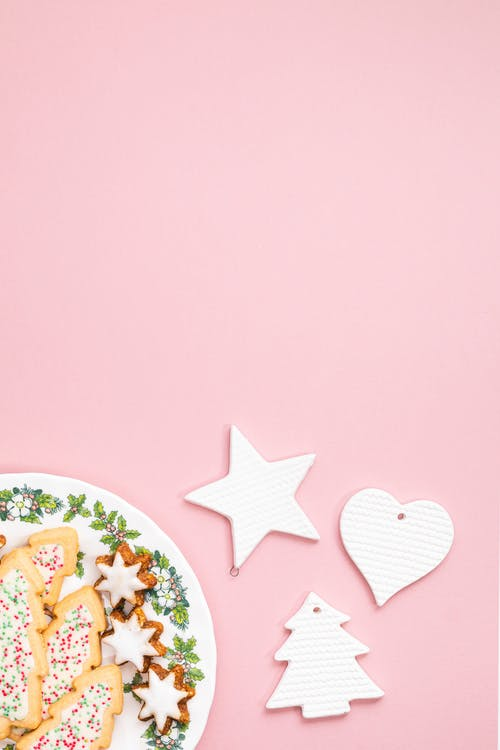 Pink and White Star and Star Stickers