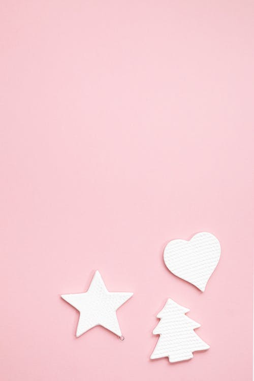 Pink and White Star Illustration