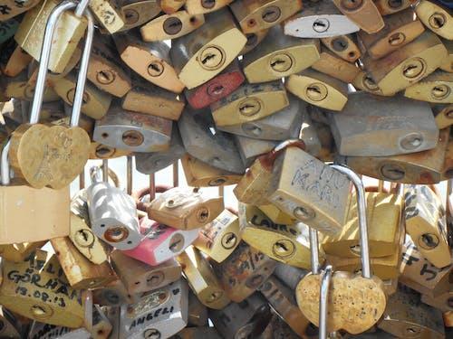 Free stock photo of bridge, locks, love