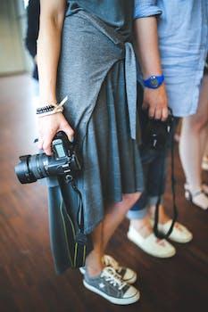 Camera In Girls Hand 183 Free Stock Photo
