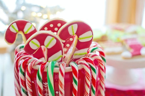 Red and Yellow Candy Cane