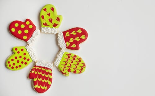 Red and Yellow Heart Shaped Decors