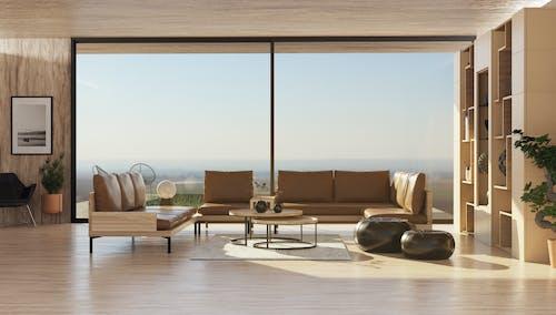 Gratis stockfoto met binnenshuis interieur, daglicht, decoraties
