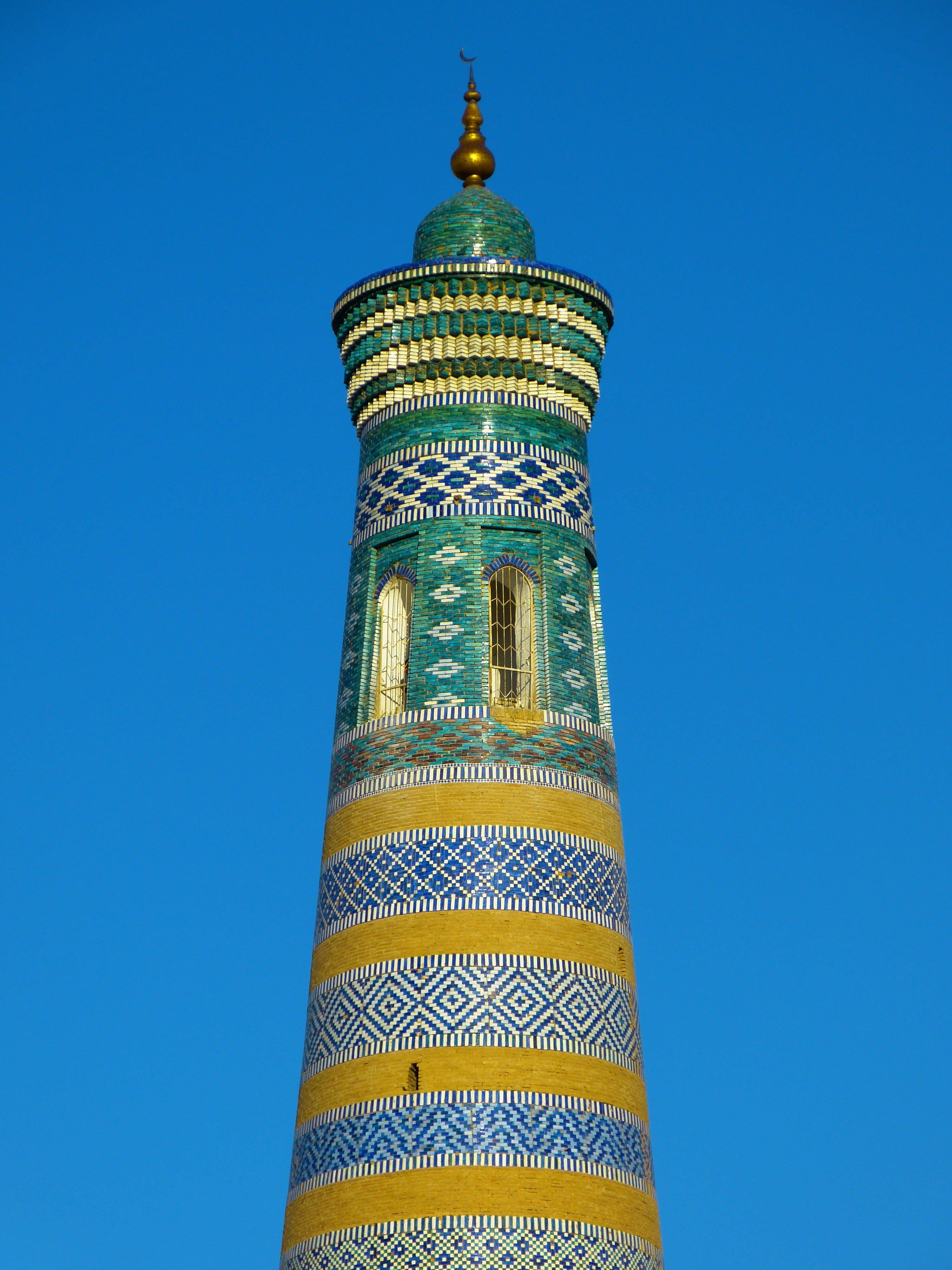 Green and Yellow Tower