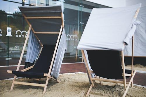 Fotos de stock gratuitas de arquitectura, asiento, cama solar, contemporáneo