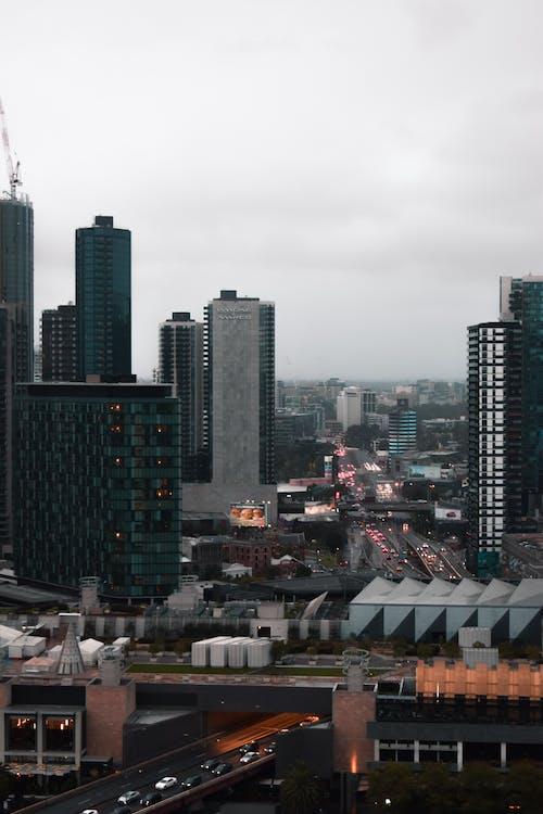 City Buildings Under Gray Sky