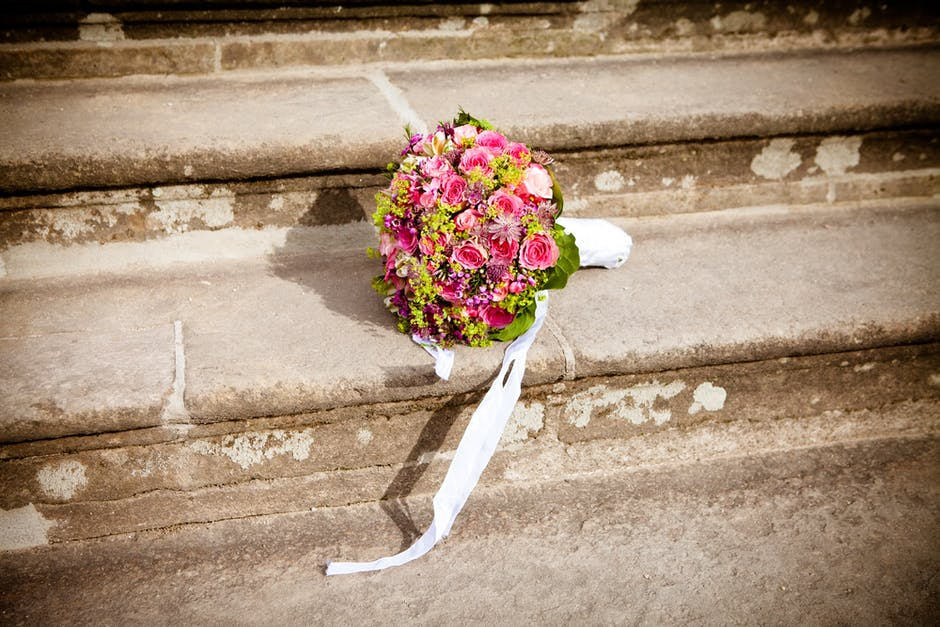 New free stock photo of stairs, flowers, bouquet