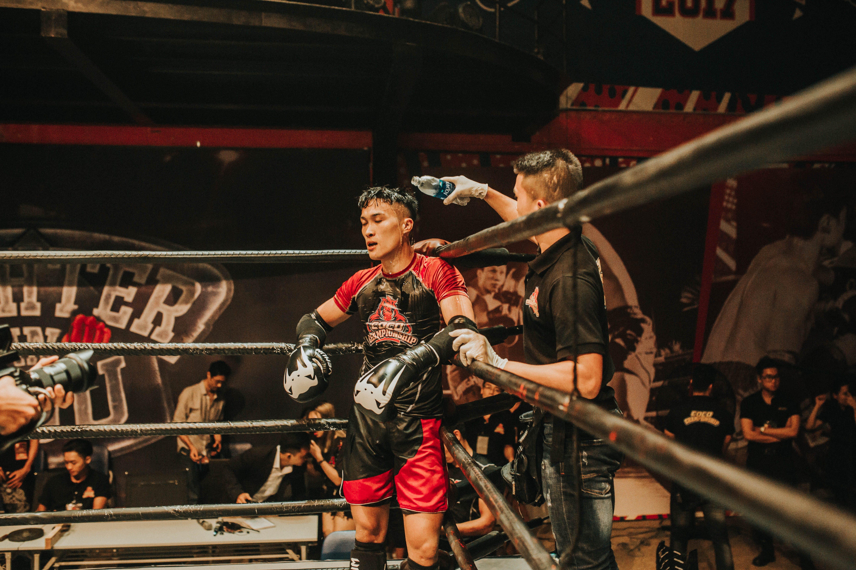 Man Standing Inside Boxing Ring