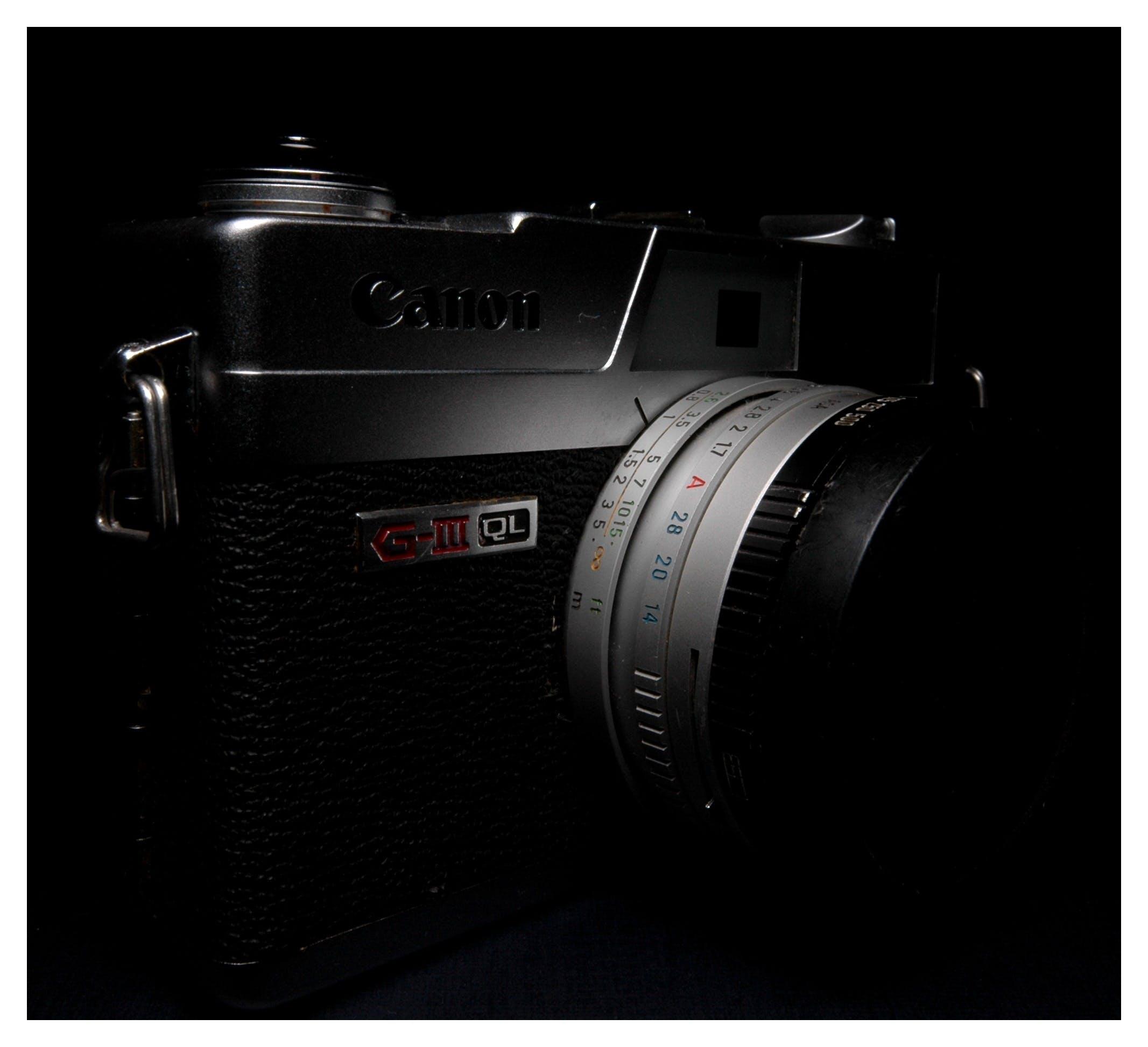 Silver Black Camera