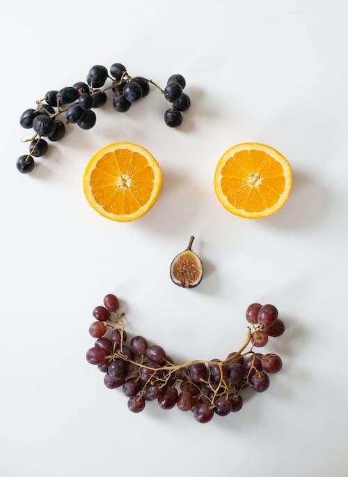 Composição De Frutas Sortidas Como Rosto Sorridente