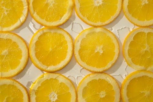 Arrangement of juicy orange slices