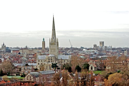Free stock photo of cathedral, city skyline, city view