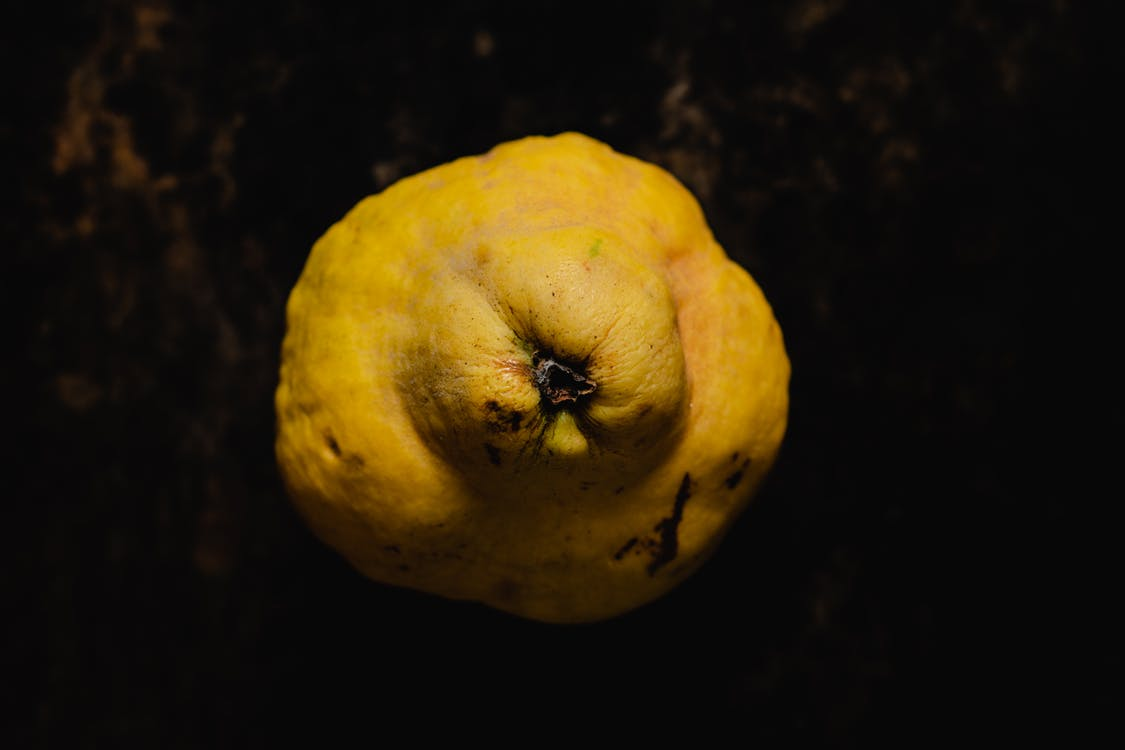 Yellow Fruit With Black Background
