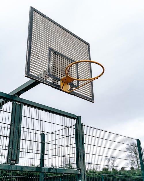 Basketball Hoop in Front of Building