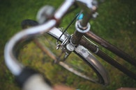 grass, bike, bicycle