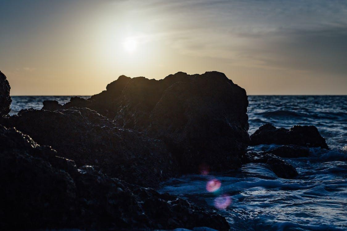 air, batu, berombak