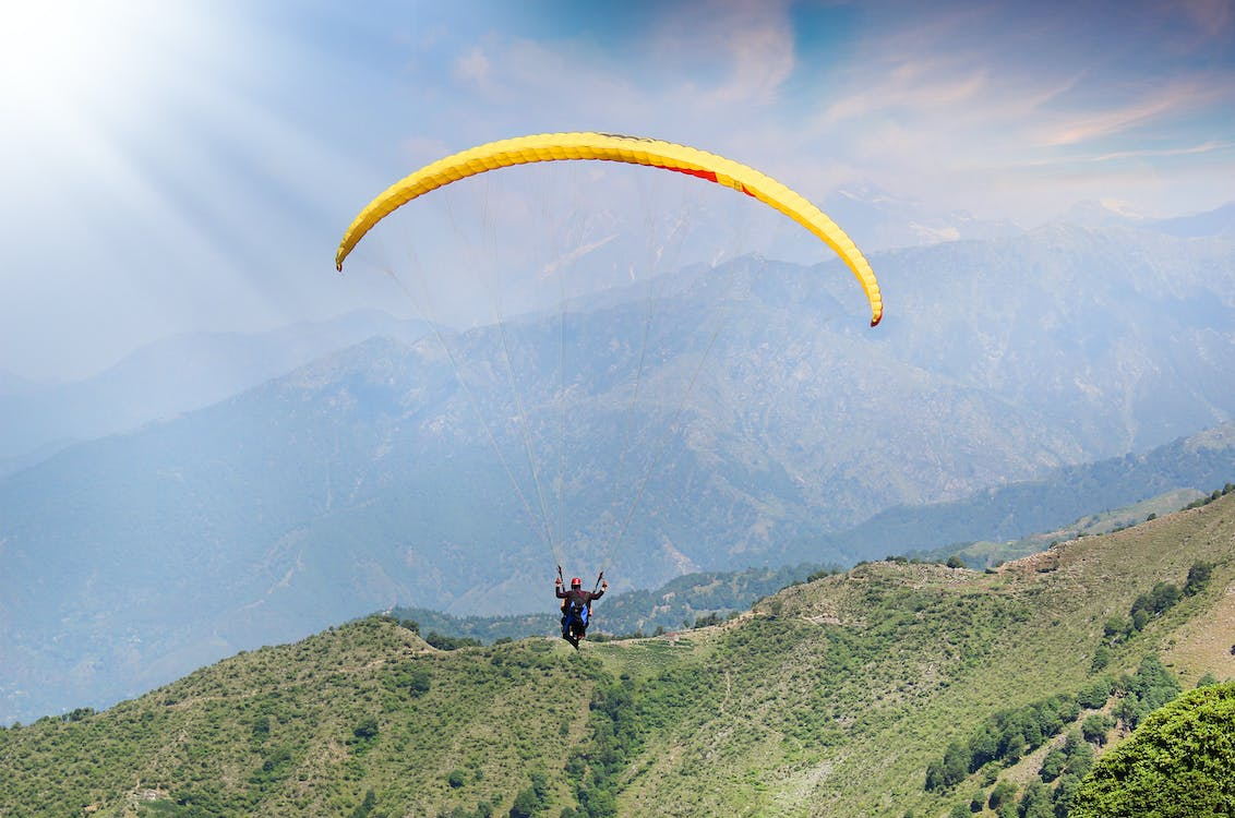 Free stock photo of adventure, paragliding, sky