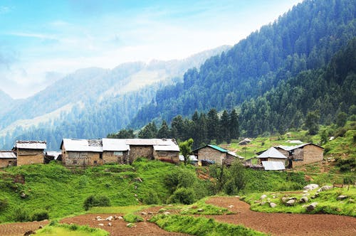 Free stock photo of bir billing, himachal pradesh, india, mountain village