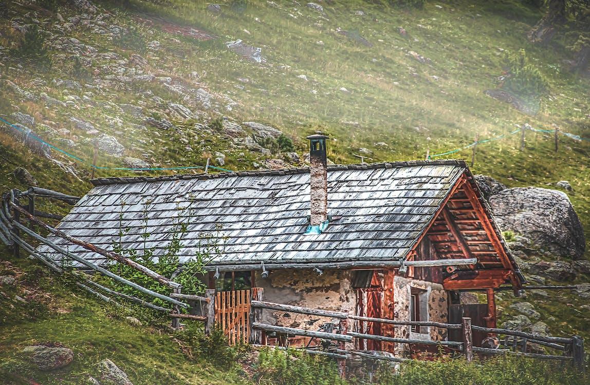 Free stock photo of alps, brick house, mountain area