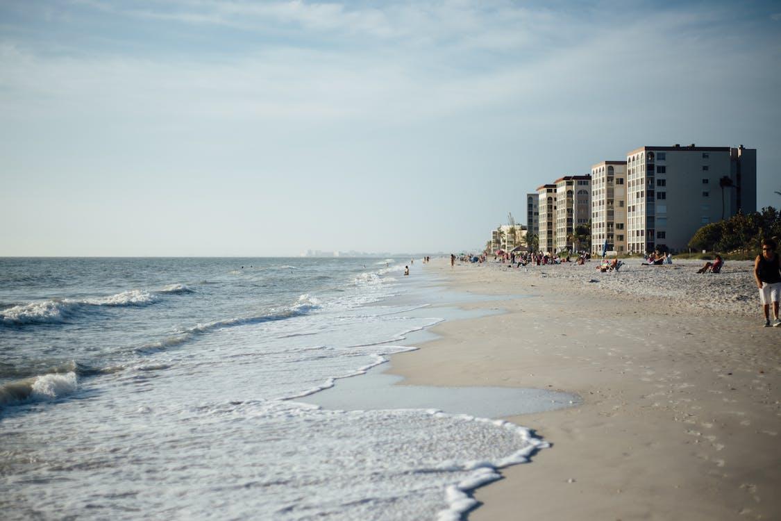 bølger, ferie, folk