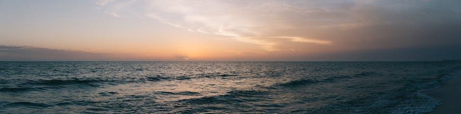 Sunset ocean panorama panoramic