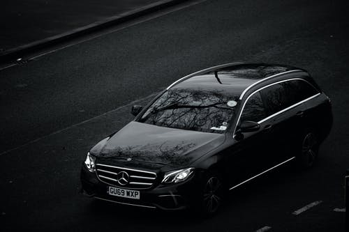 Free stock photo of black, mercedes benz, monochrome photography