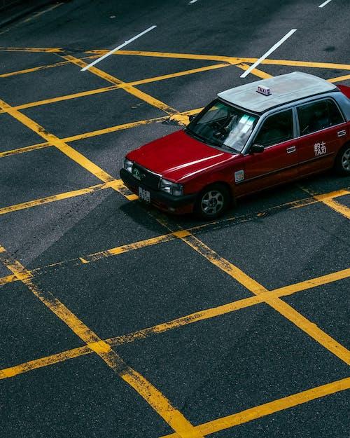 คลังภาพถ่ายฟรี ของ รถแท็กซี่, ในเมือง