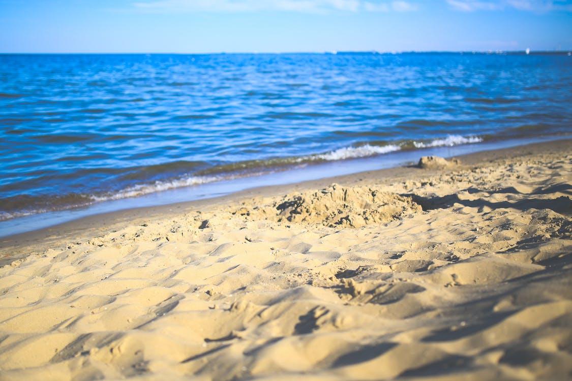 avslappende, bølge, ferie