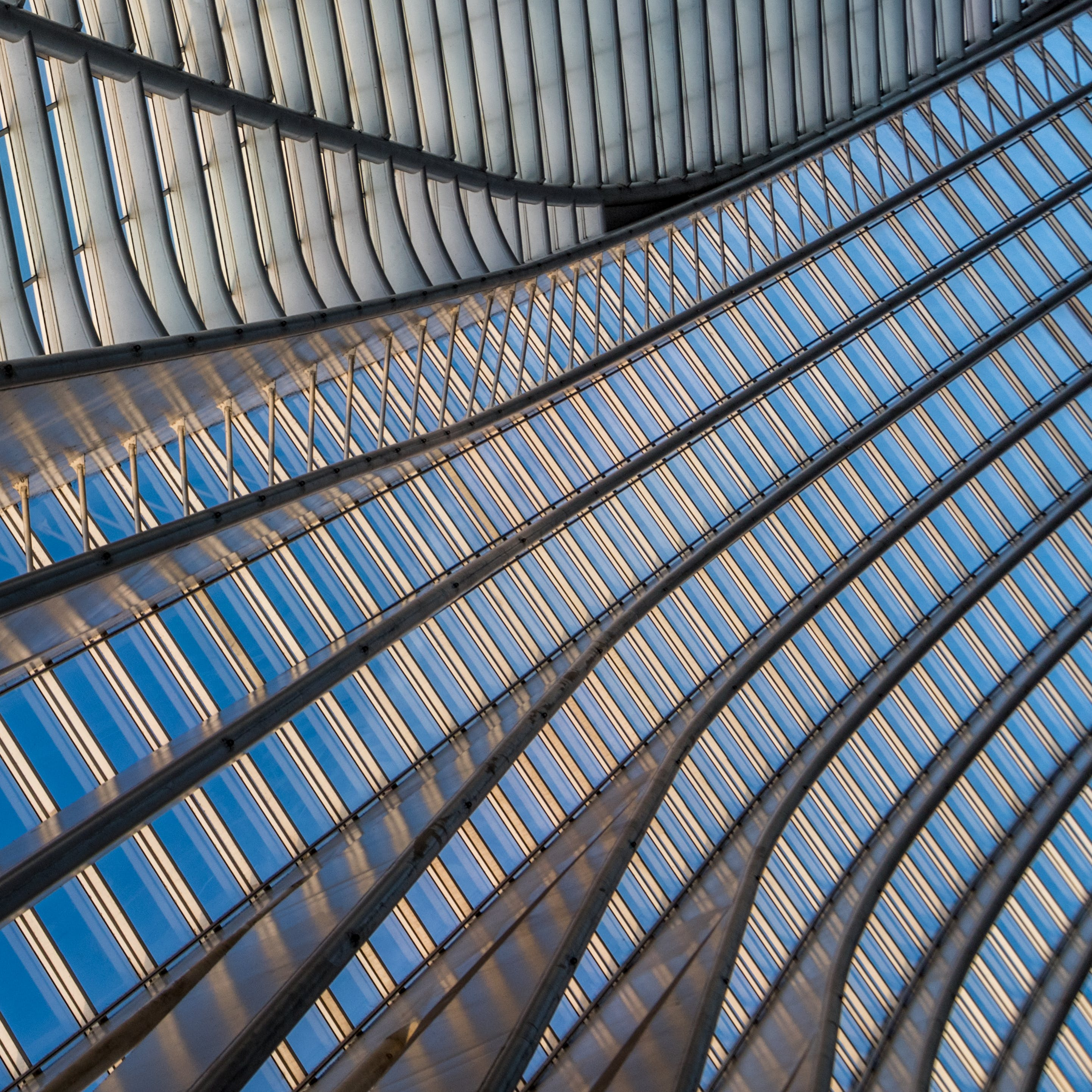 Free stock photo of lines, lines and curves, metal construction