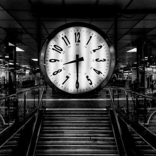Round Analog Clock at 8:30