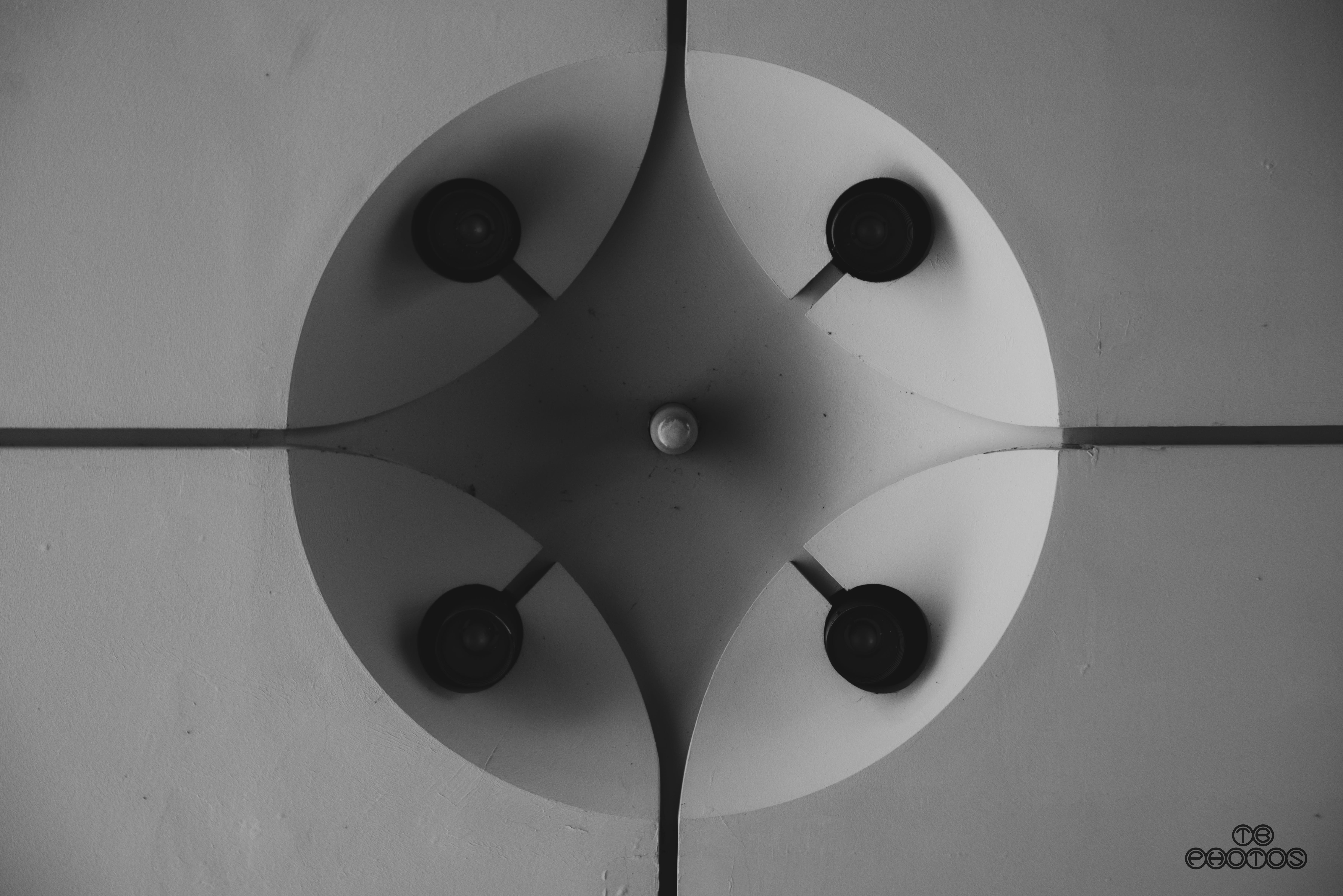 Free stock photo of ball-shaped, ceiling lamp, light, monochrome