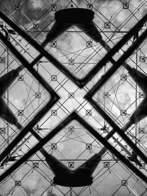 geometrik şekiller, louvre, müze, Paris içeren Ücretsiz stok fotoğraf