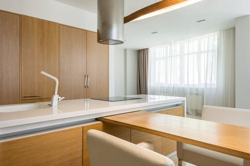 Interior of modern spacious kitchen