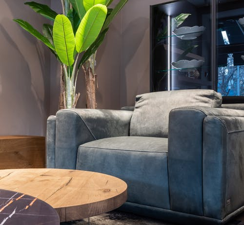 Comfy armchair in modern living room