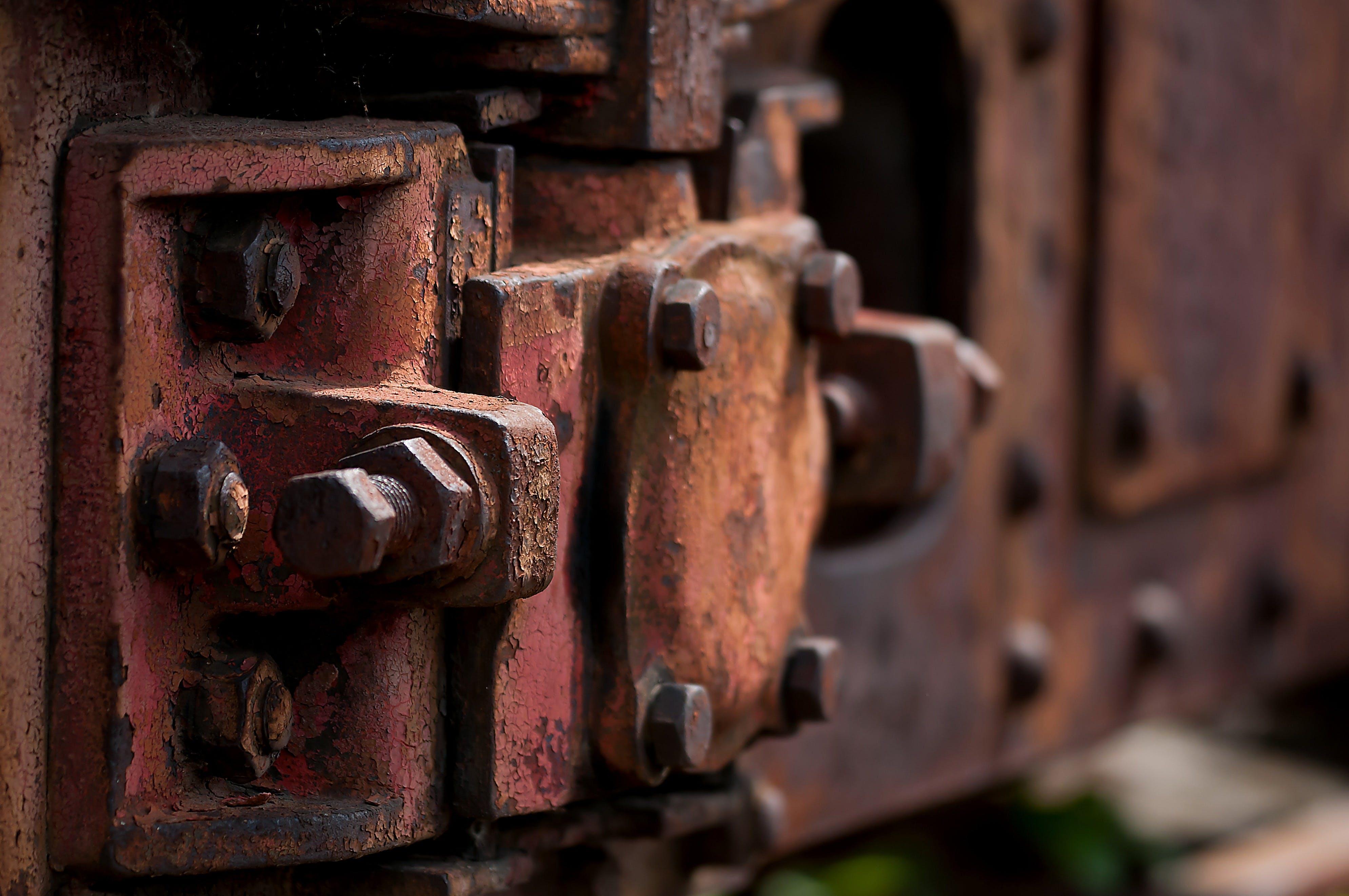 Základová fotografie zdarma na téma blesky, korodovaný, kov, nerez