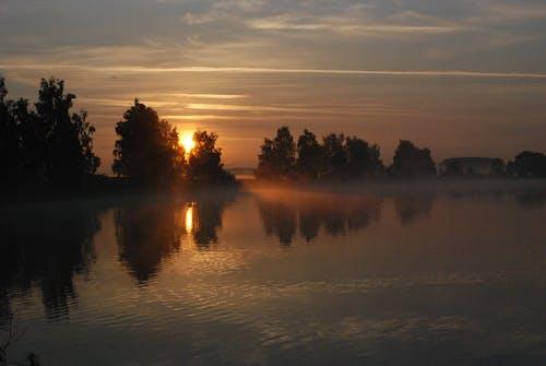 Fotos de stock gratuitas de agua, amanecer, cielo, con niebla