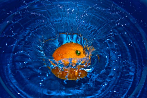 Immagine gratuita di acqua, arancia, cibo, schizzo