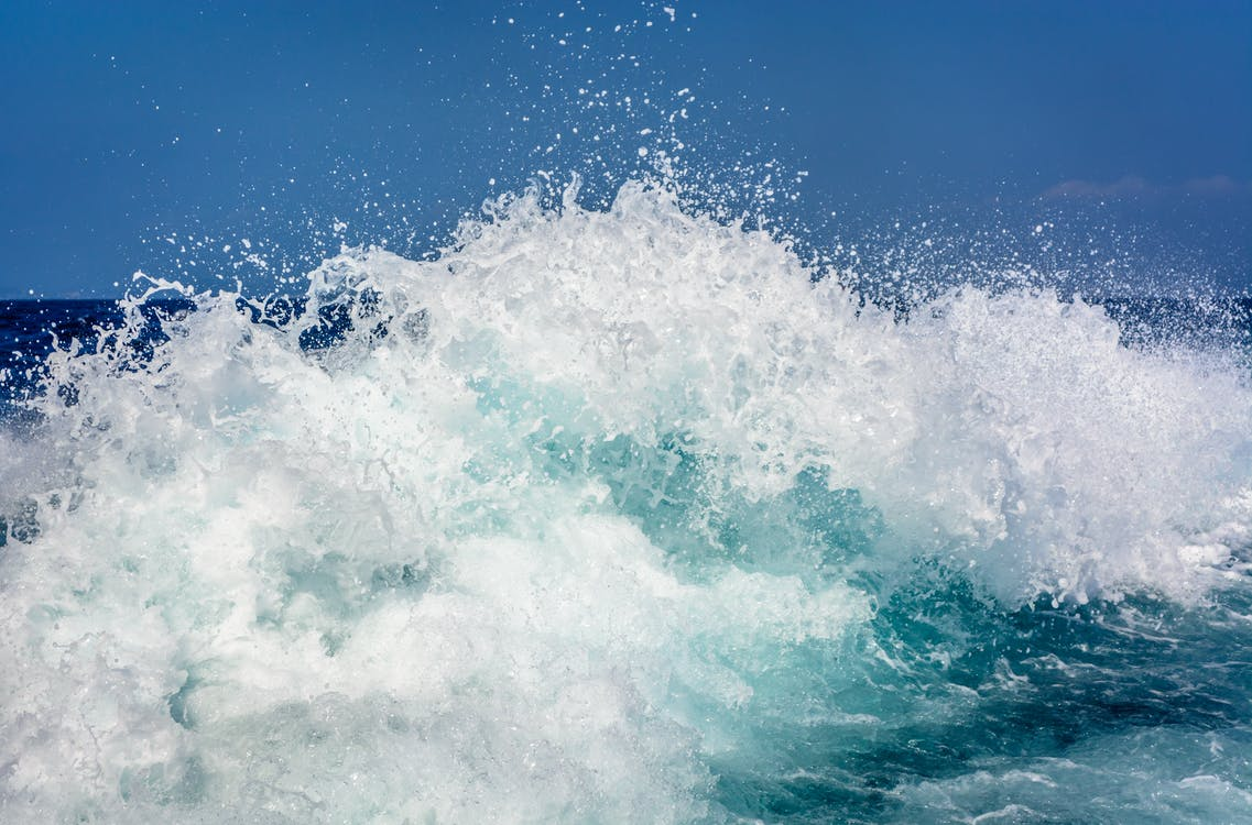 dalgalar, deniz, el sallamak