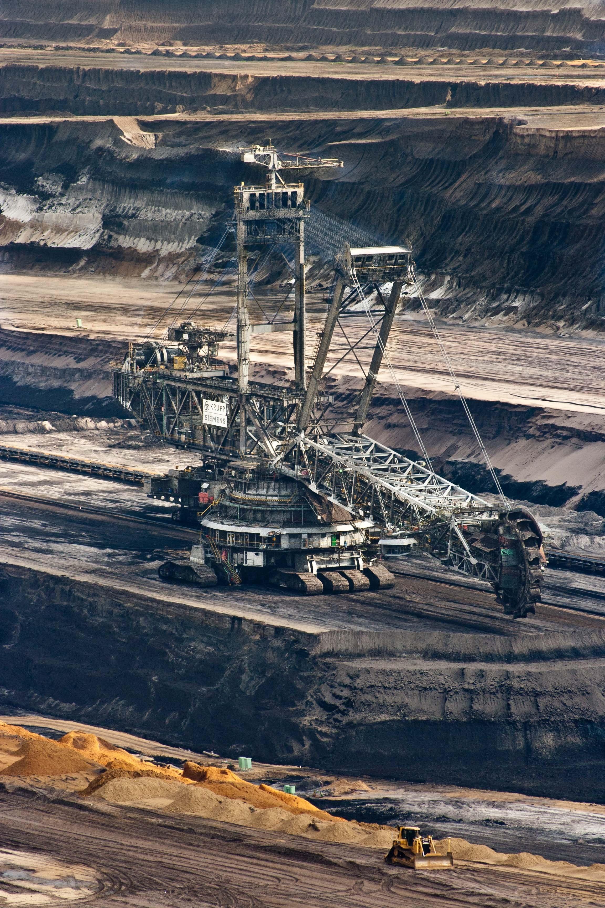 Free Stock Photo Of Brown Coal Bucket Wheel Excavators