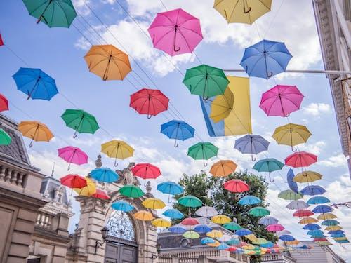 Free stock photo of sky, umbrella
