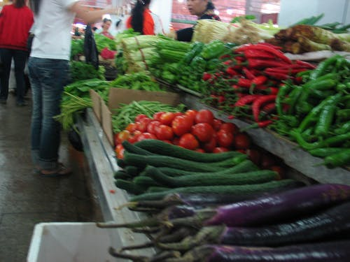 Free stock photo of fresh vegetable, Hainan Island, local markete