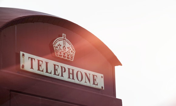 Free stock photo of red, logo, phone, telephone