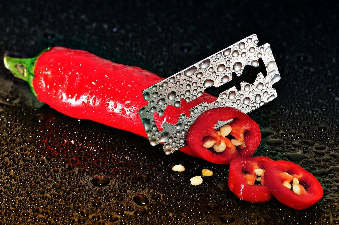 borotvapenge, chili paprika, éles