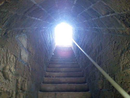 Free stock photo of tunnel light