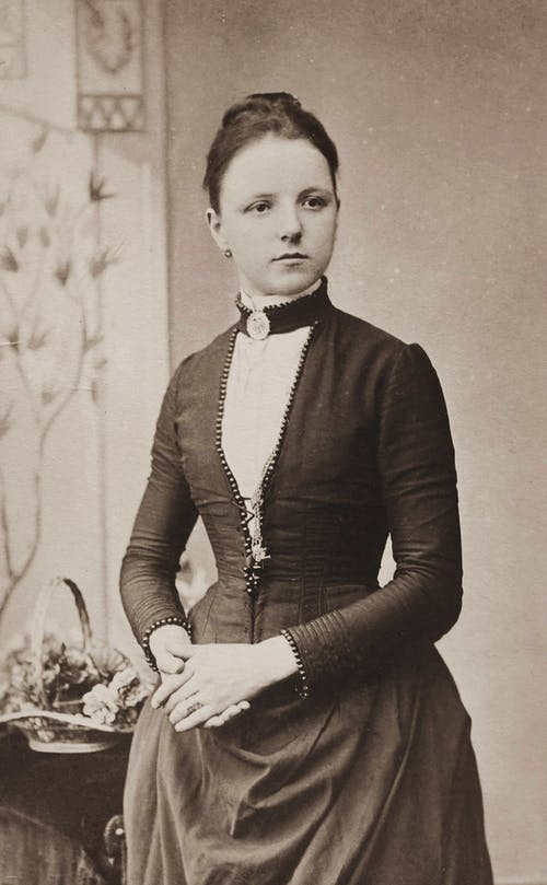 Classic Photo Of Woman In Black Dress