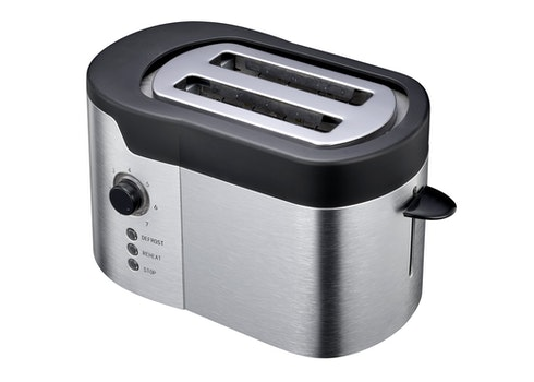 White and Black Two Sliced Bred Toaster