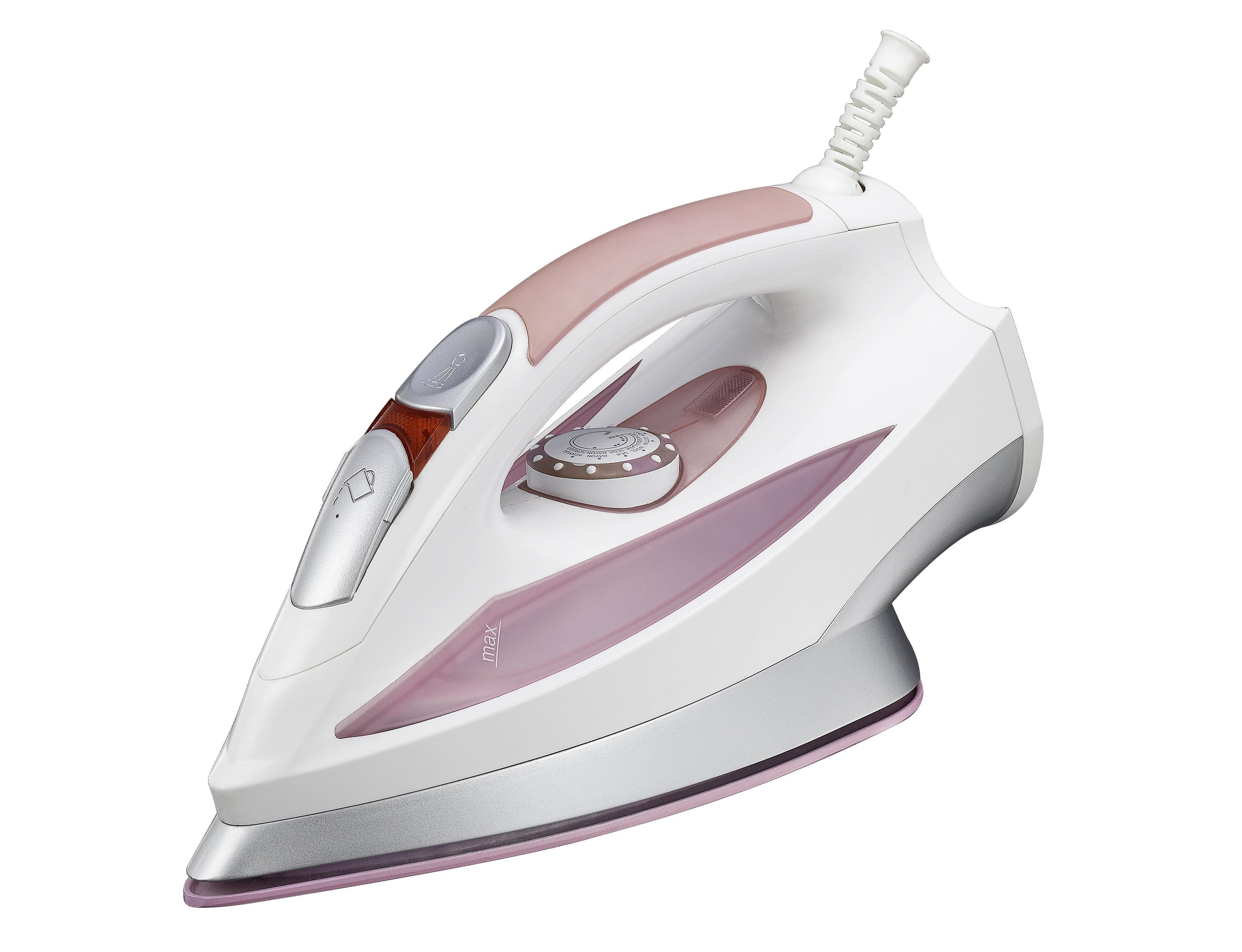 Grey and Pink Cordless Clothes Iron