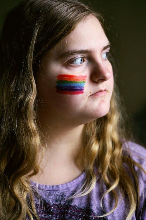 Foto profissional grátis de adolescência, amor, arco-íris, asperger