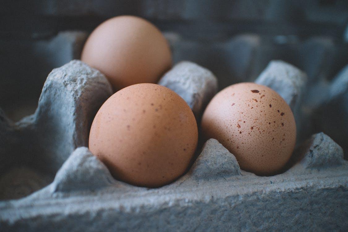 close-up, kyllingæg, nærbillede